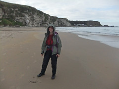 Me on the beach in White Park Bay in Northern Ireland, UK (albatz) Tags: beach whiteparkbay northernireland uk sandybeach