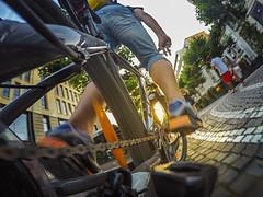 Cruising Frankfurt (buxna) Tags: life sunset bike scott fahrrad active ffm gopro hero4