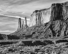 The Three Sisters at Dawn (claudiov958) Tags: arizona landscape dawn utah ngc monumentvalley thethreesisters arizonautah nikkor240700mmf28 nikond800e claudiovaldes