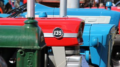 Massey among Ford(son)s. (Duck 1966) Tags: masseyferguson fordson ford tractor march
