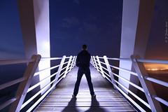 The walkway (phill_fisher) Tags: bridge lightpainting post no nighttime walkway production nophotoshop sooc lpwa
