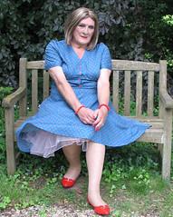 Maxblu40s-003 (fionaxxcd) Tags: crossdresser crossdressing transvestite tranny trannie m2f mtf rednails lipstick petticoat tights pantyhose bust