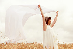 Serenity (stefaniebst) Tags: life portrait woman white field vent corn wind outdoor pastel femme fineart pregnancy maternity portraiture serenity grossesse blanc maternit champ vie fineartphotography softy bl blondhair srnit