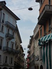 Piazzetta Emilio Maraini, Lugano - shutters (ell brown) Tags: lugano switzerland ticino italianlakedistrict lakelugano lagodilugano glaciallake luganocentro balcony balconies piazzettaemiliomaraini clock shutter shutters viapessina