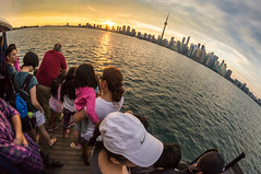 Curved TO (iza_rak) Tags: toronto downtown skyscraper curved harborfront sunset skyline cntower ferry waterfront fisheye round