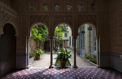 Scheherazade's Little Garden (Frags of Life) Tags: architecture builtstructure colourimage column courtyard day famousplace moorish ornate outdoors photography travel carmendelosmrtires horizontal gardens nopeople granada