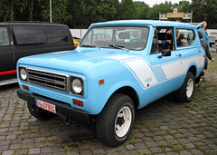 Scout (The Rubberbandman) Tags: street mag show hannover hanover international harvester scout rally rallye suv 4x4 offroad offroader america american blue car german germany road school us usa vehicle fahrzeug auto outdoor