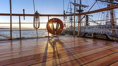 Sunset on the Star (George_Adkins) Tags: select maritimemuseumofsandiego starofindia maritimemuseum sandiegoharbor sandiego embarcadero downtownsandiego tallship sunset sunburst sunshine