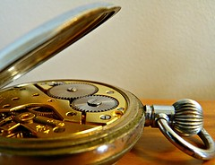 Cogs (sallyNZ) Tags: flickrfriday pocketwatch old gold time 52in2016 gear