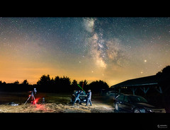Lightsaber Duel (www.adamcimages.com) Tags: nikon d800 night sky milky way full frame dslr flash off camera triggers star wars light sabre duel galaxy stars noaa nasa
