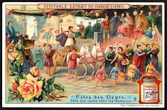 Liebig Tradecard S927 - Roman Flower Festival (cigcardpix) Tags: tradecards advertising ephemera vintage chromo liebig