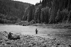 Hopefully (Bert CR) Tags: bw blackandwhite blackwhite monochrome skancheli outdoors matapediavalley river flyfishing fishing fisherman vacation