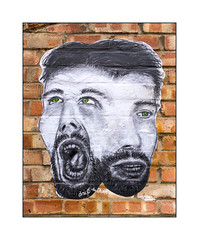 Street Art (DRSC), East London, England. (Joseph O'Malley64) Tags: drsc streetart graffiti eastlondon england uk britain british greatbritain pasteup wheatpaste paper art artist artistry artwork brickwork pointing bricks mixedmedia urban urbanlandscape