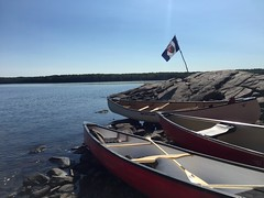 arrival (Gillian Walker) Tags: crotch lake ontario canoeing camping summer labour day 2016