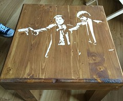 Pulp Fiction Pallet Table (irecyclart) Tags: art homedcor livingroom palletcoffeetable pallettable recyclingwoodpallets