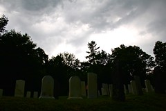 Albion (elisecavicchi) Tags: grave gravestone cemetery graveyard albion maine roadside storm obscure dark shadow shaded rainstorm thunderstorm new england north dramatic cloud sky silhouette natural mood july summer ominous