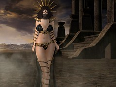 Valhallena Desert Queen (val.hallena) Tags: desert queen egyptian digitalart digitalpainting photoshop sl secondlife avatar gacha luas princess silk arabian bellydancer harem priestess