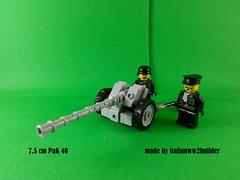 Pak 40 (italianww2builder) Tags: lego at pak 40 anti tank gun german ww2 war battle