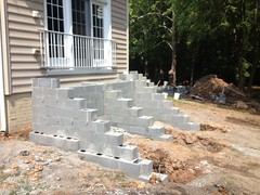 construction (6) (The Sharper Cut Landscapes) Tags: brick walkway steps patio thesharpercutlandscapes thesharpercut landscapedesign landscaping landscapelighting