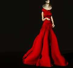 RAPTURE-KenyaAD (:RAPTURE:) Tags: rapture gin rayna fashion slfashion original mesh haute couture evening gown red ballroom one kind second life fall maitreya