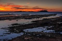 Gamrie Rocks (Silver Machine) Tags: gamrie gardenstown aberdeenshire scotland sunset redsky rocks seaweed coastline shadows sea landscape fujifilm fujifilmxt10 fujinonxf35mmf2rwr