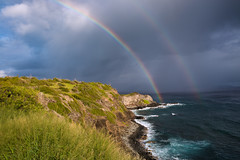 Double Rainbow (blackhawk32) Tags: hawaii landscape nakalelepoint westmaui beach coastline waves rainbow