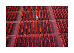 Please take your seats (andyrousephotography) Tags: italy verona arena amphitheatre roman opera concert seating rows red openair andyrouse canon eos 5d mkiii