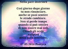 Nella pace interiore (Poetyca) Tags: featured image immagini e poesie sfumature poetiche poesia