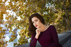 Giulia (OrnellaParisi) Tags: autumn autunno autumncolors red redhair redautumn redleaves redlips giuliazadra ornellaparisi ornellaparisiphotography roma rome fashion beauty actress portrait