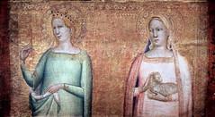 IMG_8155 Bernardo Daddi. actif  Florence de 1312  1348. Sainte Marguerite et Sainte Agns.  Saint Margaret and Saint Agnes. Strasbourg (jean louis mazieres) Tags: peintres peintures painting muse museum museo france strasbourg palaisdesrohan bernardodaddi