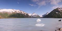 Last ice from Portage Glacier this summer (dieLeuchtturms) Tags: 2x1 alaska america amerika gletscher nordamerika northamerica panorama portagelake thelastfrontierstate usa unitedstates vereinigtestaaten glacier anchorage