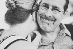 621 (MIKADM) Tags: portrait white black cute love monochrome smile mom glasses hug couple dad adorable marriage husband wife