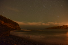 Middle Cove at night (Wild & Free Photography) Tags: sky night newfoundland stars nikon cove tokina nightsky afterdark middlecove