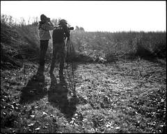 (Wilcox,Kyle) Tags: blackandwhite bw 120 film analog mediumformat birding iowa binoculars prairie 6x7 xtol 80mm mamiya7 iso25 epsonv750