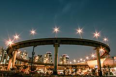crown (goesnuk) Tags: night streetlight view streetlamp overpass snap crown canon60d goesnuk