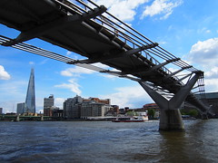 The Millenium Bridge infront of The shard