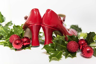87/100_Red Stiletto_Deck the heels with boughs of holly . . . fa la la la la, la la la la