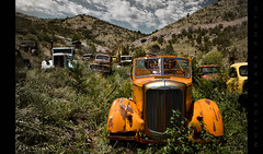 The League of Extraordinary Gentlemen (Whitney Lake) Tags: arizona rust decay jerome trucks antiques junkyard goldkingmine