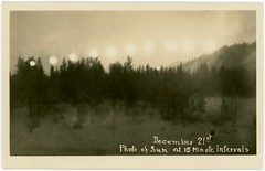 December 21st, Photo of the Sun Taken at Fifteen-Minute Intervals (Alan Mays) Tags: photos ephemera solstice wintersolstice december21 realphotopostcards
