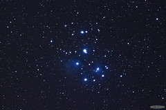 M45 Pleaides Cluster (AstroGuiGeek) Tags: sky canon stars space cluster ciel astrophotography m45 astronomy starry espace skyatnight toiles pleiades starrynight t3i astronomie deepsky astrophotographie canonphotography amas starrysky toil cielprofond cieldenuit eos600d canoneos600d astroguigeek
