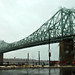 Pont Jacques-Cartier in the rain