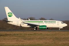 Boeing 737-75B Germania D-AGEQ (herpeux_nicolas) Tags: france st gmi boeing takeoff germania winglets décollage paysdelaloire nte dageq 73775b nantesatlantique lfrs aéroportinternational