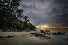 The Stones (m_haefeli) Tags: longexposure sunset sea sun beach water rock stone strand thailand nikon rocks meer wasser long exposure angle stones wide widea