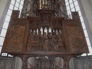 Rothenburg ob der Tauber, Bavaria, Germany, Church Altar Carving, The Last Supper