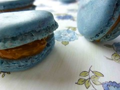 Blueberry French Macaron with Dulce de Leche Filling (Mad Hausfrau) Tags: traderjoes dulcedeleche frenchmacarons homemadefrenchmacarons blueberryfrenchmacaronrecipe blueberryfrenchmacarons
