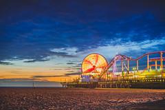 Los Angeles '14 - 109 (seango) Tags: california longexposure trip carnival sunset vacation wheel clouds losangeles nikon zoom dusk getaway santamonica ferris santamonicapier santamonicabeach 2014 d600