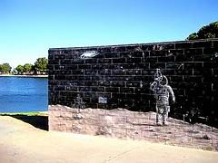 Apollo Park Astronaut Mural (Joe Lach) Tags: park moon lake wall mural walk space astronaut astronauts apollopark joelach