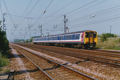 19900506 001 Ickleford. 317355 Heads An Up Kings Cross Train North Of Hitchin (15038) Tags: electric br trains emu railways britishrail hitchin class317 ickleford 317355