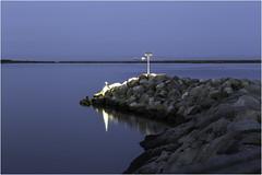 Not beyond this point (zilverbat.) Tags: longexposure nightphotography travel wallpaper water harbor boat rocks europe nightlights sweden calm bluehour 2014 avondfotografie longexposurewater canoneos6d zilverbat photographybynight elvinhagekpnplanetnl
