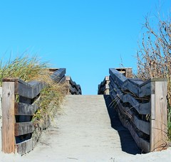 Pathway to the beach (Mickey Marino) Tags: ocean travel love beach hope path faith direction attitude walkway destination purpose pathway decision beginnings traveler